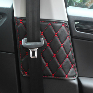 2PCS/Set Car Seat Safety Belt Protective Pad Crash Mat Cover For Skoda Kodiaq 2017 2018 2019 Interior Accessories Car Styling