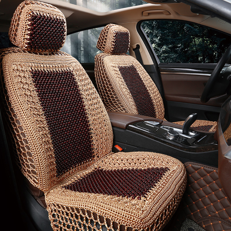2018 Sale Wooden Bead Car Mats Hand Hook Seat Manual Ice Silk Cool Breathable Pine Seating Pad General Hua Limu Massage Cushion