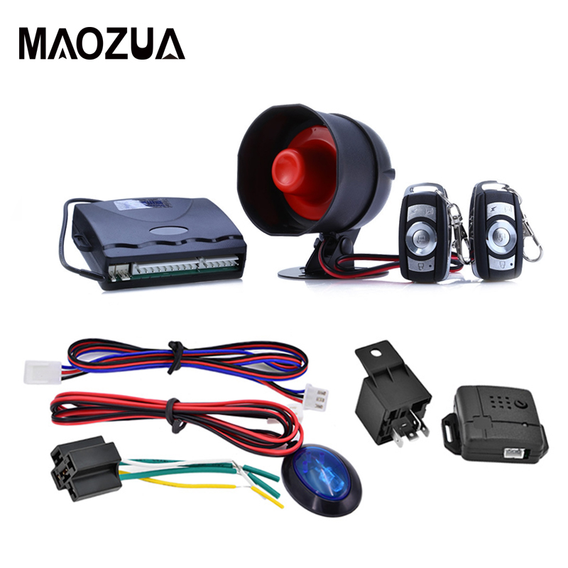 Car Alarm System Universal One Way Vehicle System S