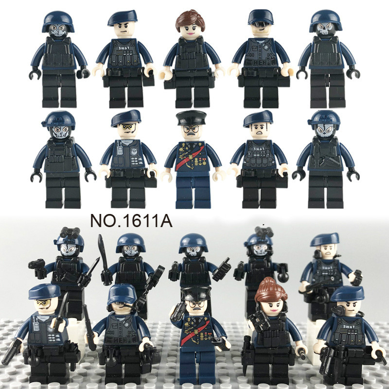 1611A Children's Building Block Toys Weapon Pieces Accessories for Urban Police Dolls