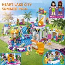 768PCS Heartlake City Pool Building Blocks Sets Friends Figures Holiday Hotel Bricks LegoINGLs Toys For Girls Christmas Gifts
