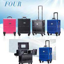 13f872a05 Clavo de aluminio Carro de equipaje caja de cosméticos profesional cosmética  trolley Ruedas para tren 4