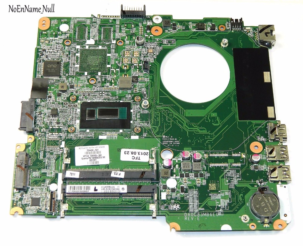 734424-501 734424-001 739965-501 DA0U83MB6E0 Laptop Motherboard for HP Pavilion 14-N Motherboard i3-4005U DDR3