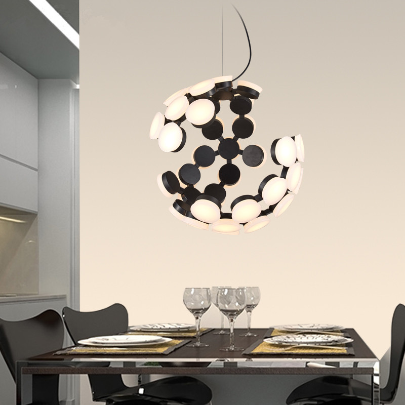 modern brief fashion led acryl iron creative dot half round shape pendent lamp for dining room living room bar AC85-265v A336 modern brief creative wave shape aluminum acryl led mirror light for bathroom living room wall lamp ip 65 41 50cm 1386