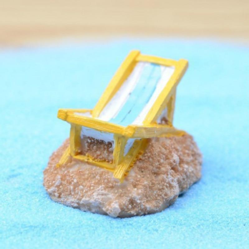 sale~1Pcs beach chair/fairy garden gnome/moss terrarium home decor/crafts/bonsai/bottle garden/miniatures/c001 DIY