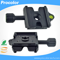 Clamp Adapter Plate Square for Quick Release Plate Fast conversion clip seat with Gradienter for Tripod Ball Head Arca Swiss RRS