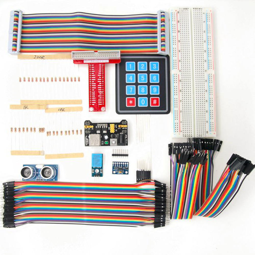 Kit d'apprentissage de démarrage RFID carte GPIO en forme de T pour framboise Pi 2 modèle B
