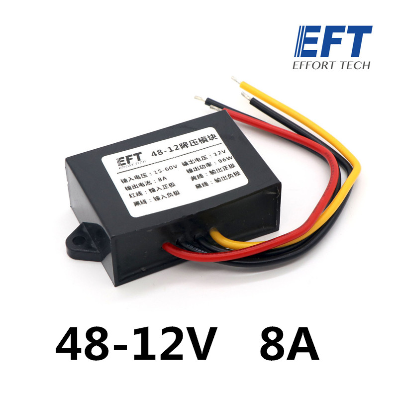 EFT 48V-12V 8A / 24V-12V 6A buck module Water pump power supply for DIY agricultural drone 3 inch gasoline water pump wp30 landscaped garden section 168f gx160 agricultural pumps