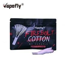 20 шт./упак. Vapefly Firebolt хлопковая вата для парения, поджатые органический хлопок набор «сделай сам» для обслуживаемых атомайзеров и дрипок, атомайзер катушка фитиль