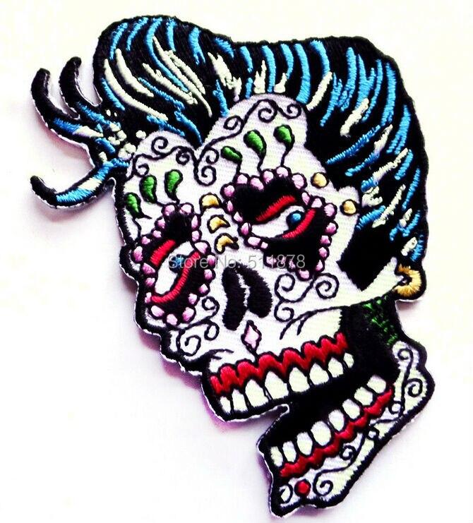 3 5 Sugar Skull Rockabilly Elvis Day of the Dead Dios De Los Muertos Outlaw MC