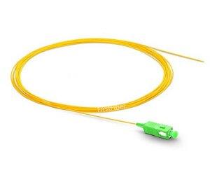 Image 2 - 1m 50pcs SC APC fiber Pigtail LC APC pigtail cable G657A Simplex  9/125 Single Mode Fiber Optic Pigtail   0.9mm 2.0mm PVC Jacket