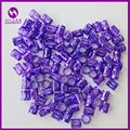 ( 100pcs/bag) Purple Dreadlock Beads Drealock Rings For Crochet  Braiding Hair Extensions