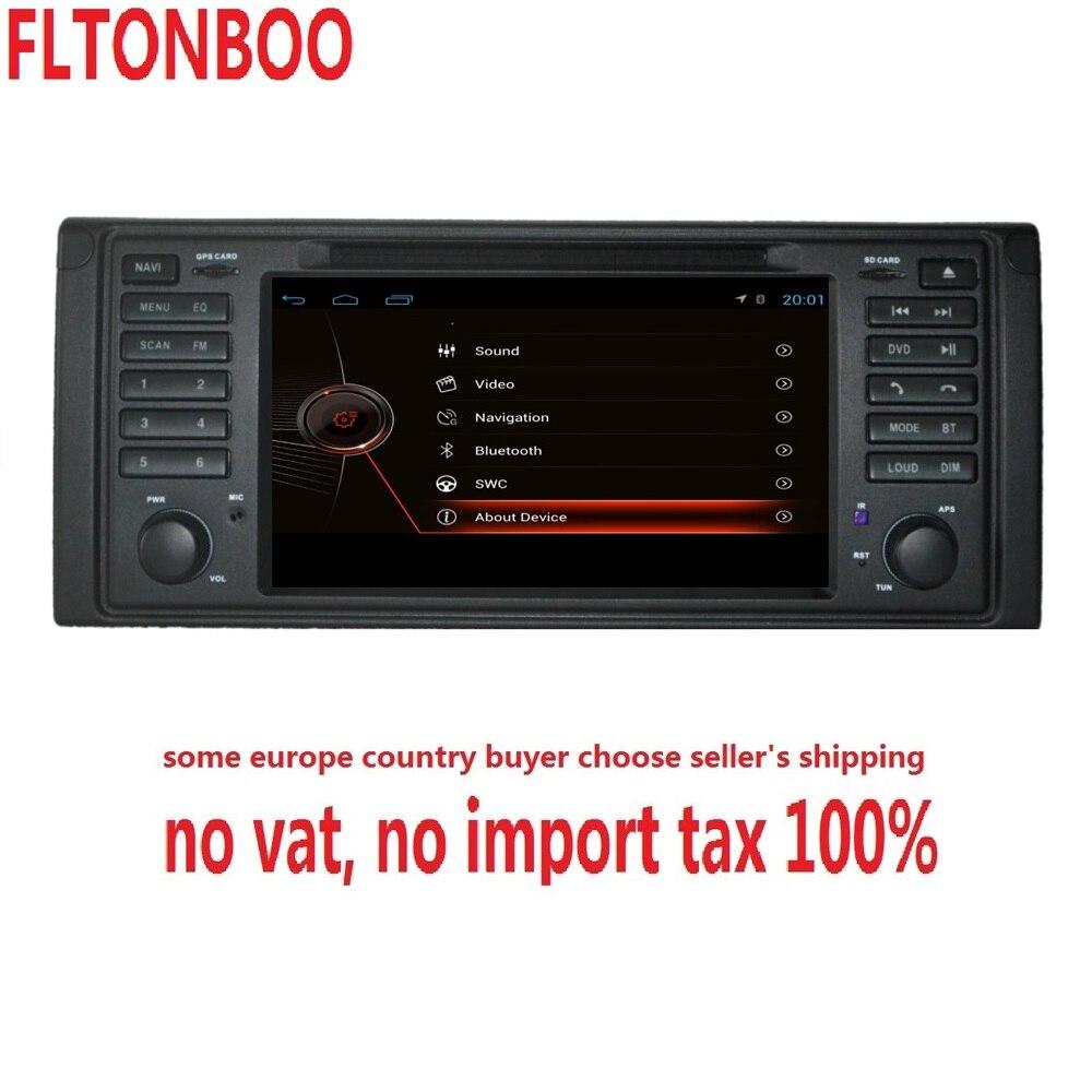Lecteur dvd de voiture 7 pouces 2 din pour E53 X5 E39 1997-2007 avec lecteur DVD de voiture Bluetooth/RDS/Radio/SWC/USB/SD/Canbus