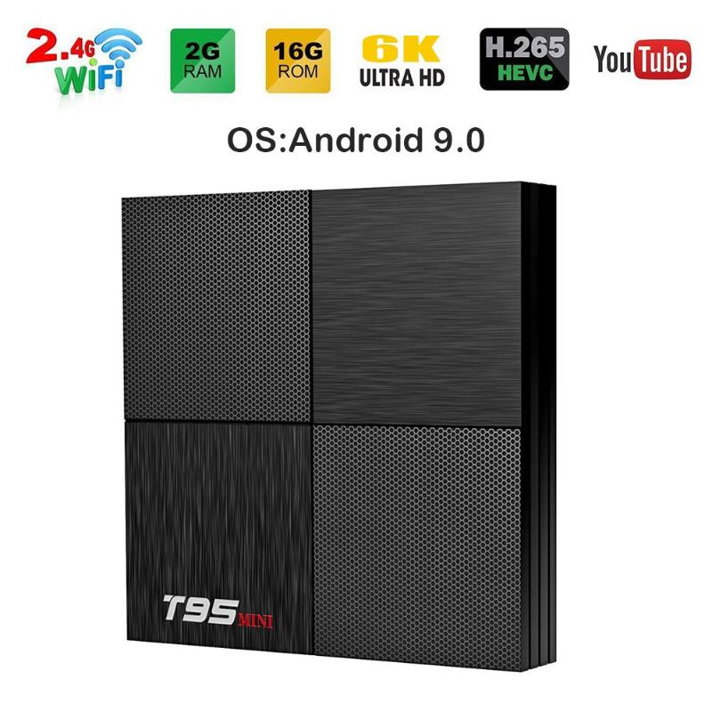 T95 Mini Android 9.0 Smart TV Box Allwinner H6 Support 2.4GHz WiFi 2GB 16GB Quad Core Set Top Box w/ Remote PK TX6 Media Player