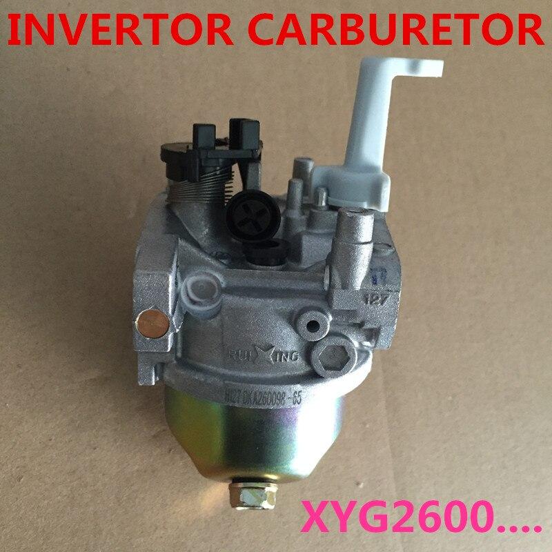 ruixing carburador fits para o chines inversor inversor geradores xyg2600i e 125cc carburador xy152f 3 substituir