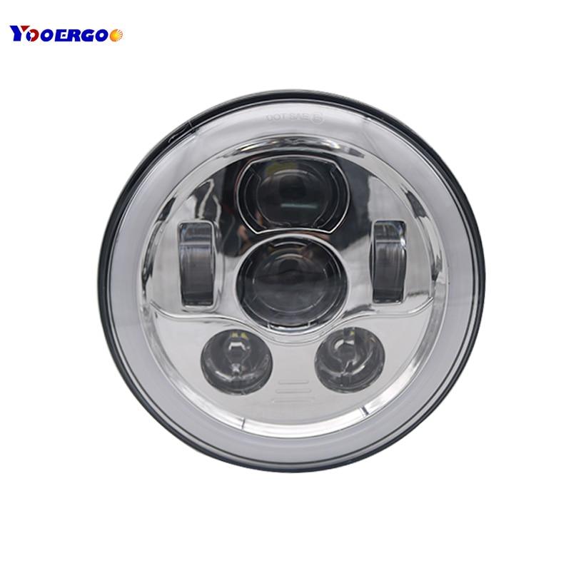 7 Round Light Ring Halo Angel Eye 7 inch led headlights For Jeep Wrangler JK TJ LJ Sahara Rubicon Sport Unlimited Hummer H1 H2