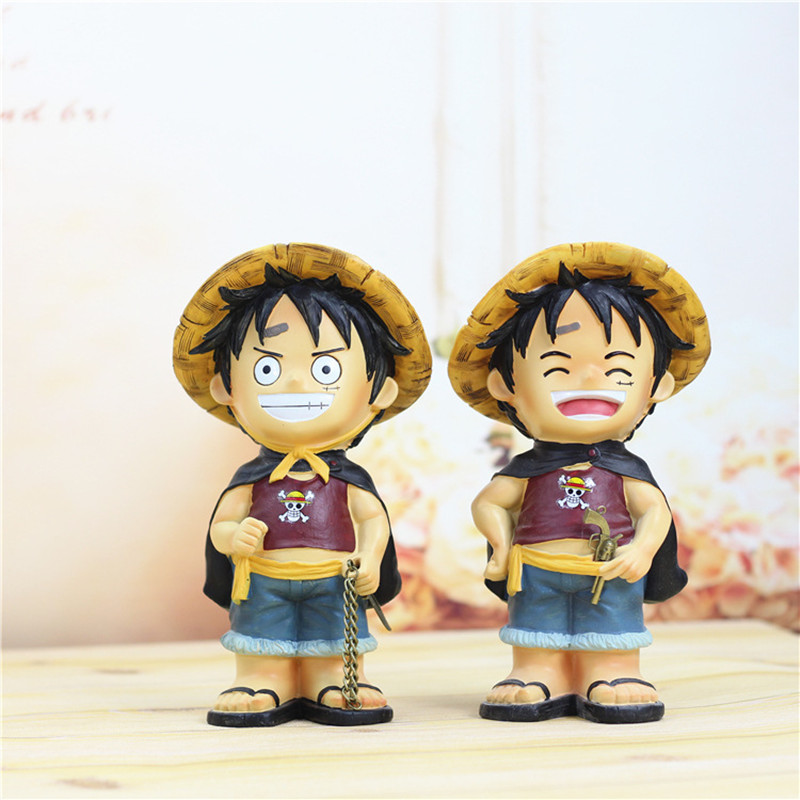 ONE PIECE Monkey D. Luffy Piggy Bank Anime Eiichiro Oda Coin Penny Cent Money Saving Safe Box Action Figure Model Toy L405