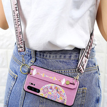 strap tpu case for huawei P30 P20 pro mate 20 X honor 10 lite 8x P Smart 2019 cover fashion 3d wristband shell