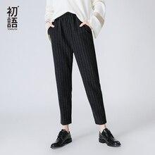 Elastic Pants Ankle Length
