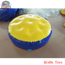 Water park toys 10 pieces of inflatable air bouncer floating island ,1m diameter inflatable round water mat