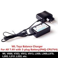 3sets/lot WL Toys accessory Balance Charger For WL V666 V353 V913 V912 L959 L969 L202 RC Helicopter&RC Car parts Charger