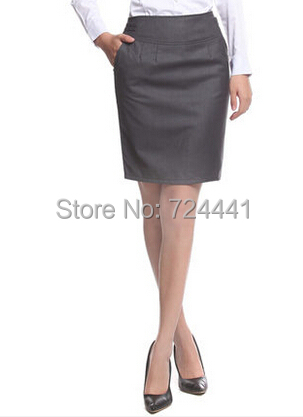 Women Professional Suit Skirts Plus Size Western Formal Step ...