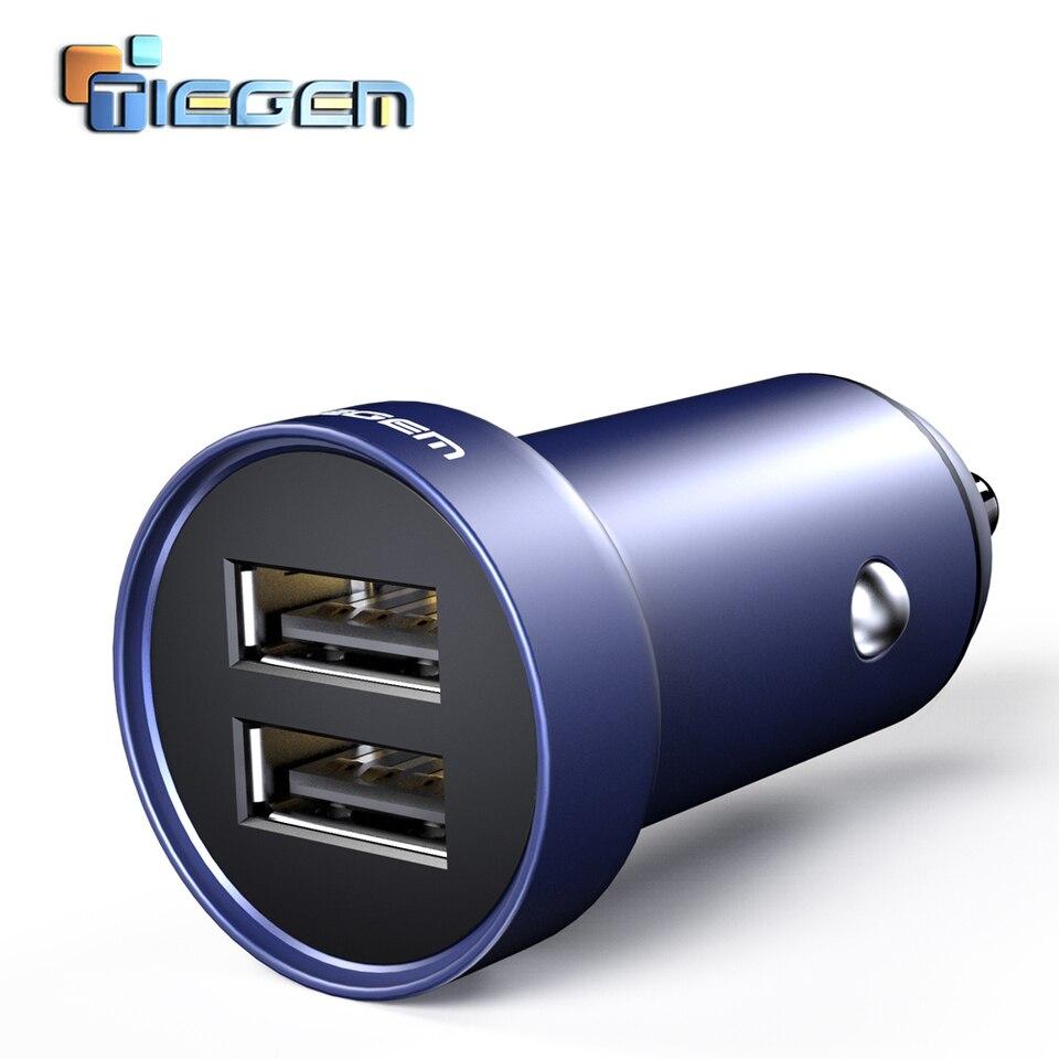 TIEGEM mini ładowarka samochodowa dual USB dla telefonów