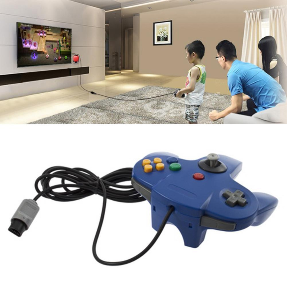 Classic Wired Controller For Nintendo N64 Games Long Handle Wired Game Controller Bit Controle Pad PC Joystick For N64 New APE racing wheel controller for nintendo 3ds black