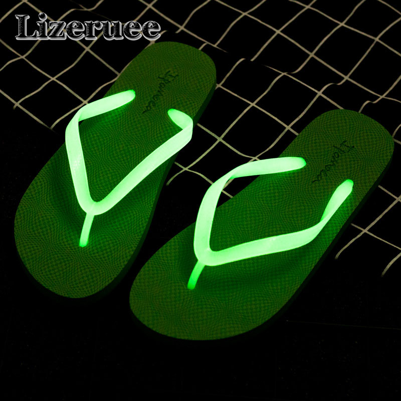 Luminous slippers Men's Shoes Summer Flip Flops Shoes Sandals indoor & outdoor Flip-flops Beach Slipper zapatos mujer ME147 creative 3d print designer shoes men s beach flip flops casual flat sandals zapatos mujer fashion sandals slipper for men retail