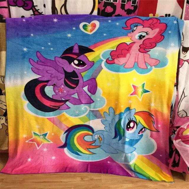 free shipping flannel blanket children cartoon lol my little pony