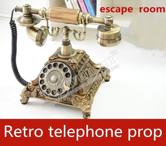 real life room escape room prop phone office Smart phone Retro telephone Fixed phone unlock Cable telephone Takagism game