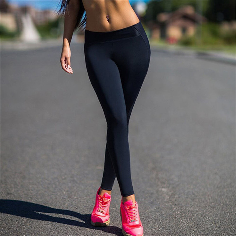 Women Yoga Pants High Waist Sport Leggings Elastic Compression Tights Exercise Sports Fitness Running Leggings Sportswear
