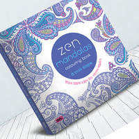 128 Page Mandalas Coloring Book For Adult comic books Relieve Stress Graffiti Secret Garden Children art coloring books
