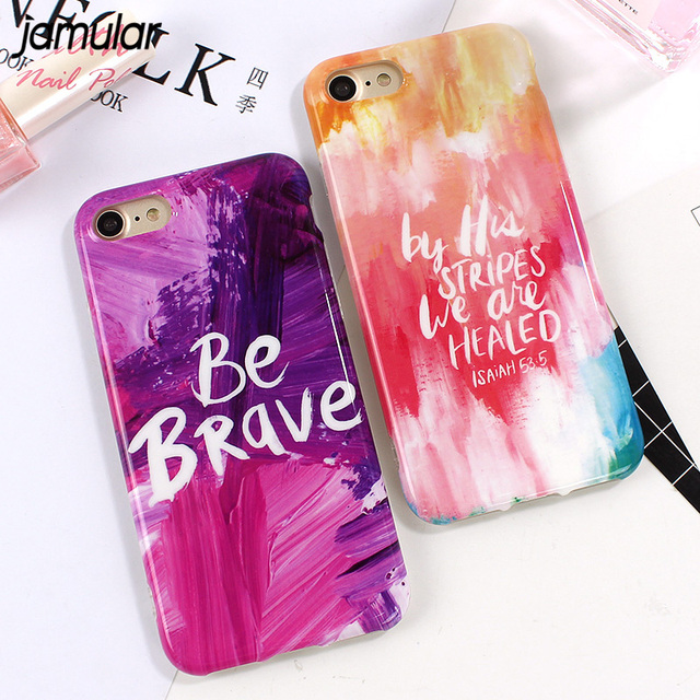 JAMULAR Funny Marble Silicone Phone Case For IPhone 8 6 6s 7 Plus Cases Artistic Graffiti