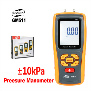 BENETECH Manometer Manometer Druck Differential Tester Handheld Digital Manometer Druck Manometer GM510 GM511