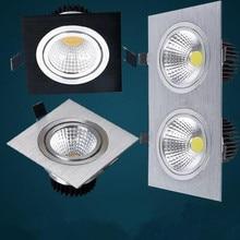 1PCS high power aluminum led cob dimmable ceiling light AC110V-230V 7W 12W  16w 20W square cob led downlight(CE&ROHS)