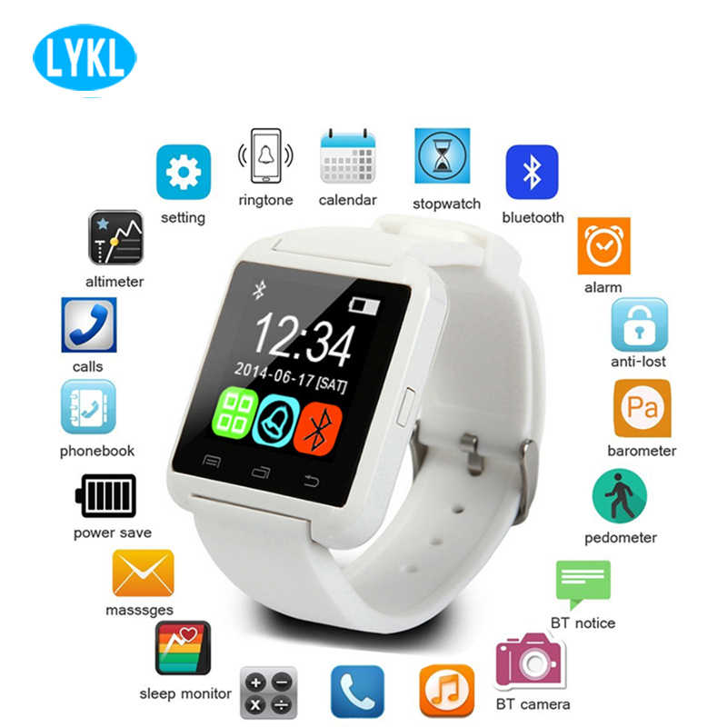 Лидер продаж U8 Смарт часы Bluetooth Smartwatch U80 для IPhone 6/5S samsung S6/Note 4/Note htc Android смартфон на базе Android