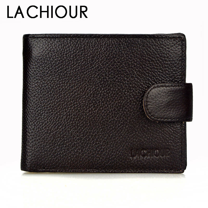 Luxury Genuine Leather Wallet Fashion Short Bifold Men Wallet Casual Soild Men Wallets With Coin Pocket Purse Male Wallet