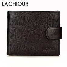 Luxury Genuine Leather Wallet Fashion Short Bifold Men Casual Soild Wallets With Coin Pocket Purse Male