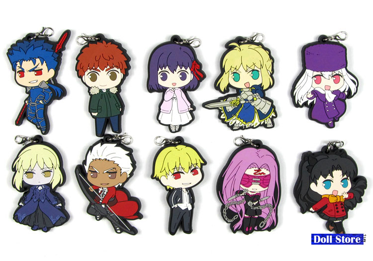 Anime Fate//Grand Order FGO Stay Night Saber Rubber Strap Keychain Keyring Charm