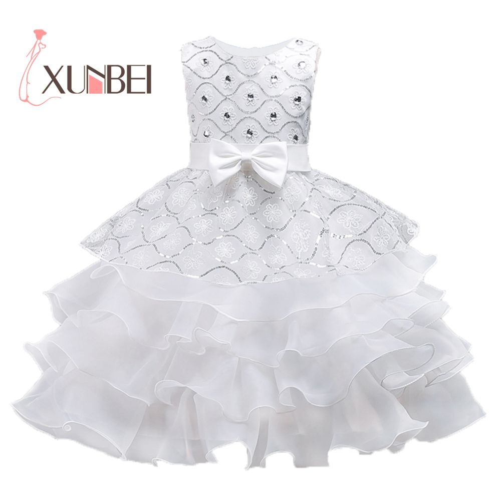Ruffled Princess   Flower     Girl     Dresses   2019 Beaded Organza   Girls   Pageant   Dresses   First Communion   Dresses