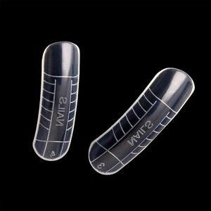 Image 2 - 120 Pcs מהיר בניין עובש טיפים נייל טפסים כפול אצבע הארכת נייל ארט UV Builder פולי ג ל כלי
