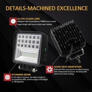 Image 3 - CO LIGHT Off Road Work Light 63W Flood 4.3 Led Fog Lights for Auto ATV Lada Tractor Truck SUV Boat Led 12V 24V 4X4 Accessories