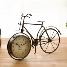 Retro Vintage Metal Bicycle Bike Desk Clock Home Decoration Table Clock Ornament