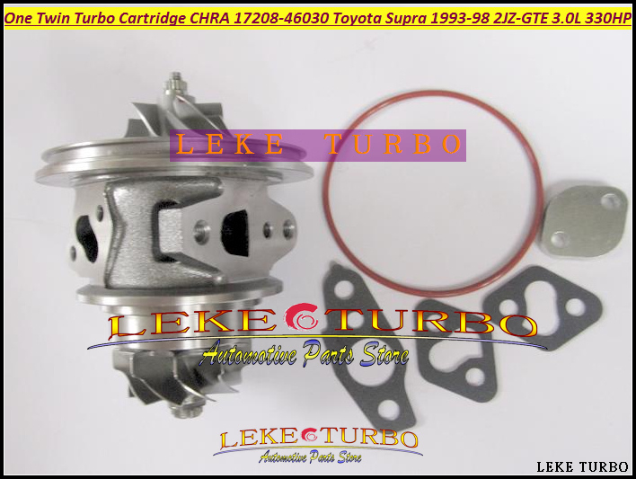 -One Twin Turbo Cartridge CHRA CT20 17208-46030 17208 46030 Turbocharger For TOYOTA Supra JZA80 1993-98 2JZ-GTE 2JZGTE 3.0L 330HP (2)