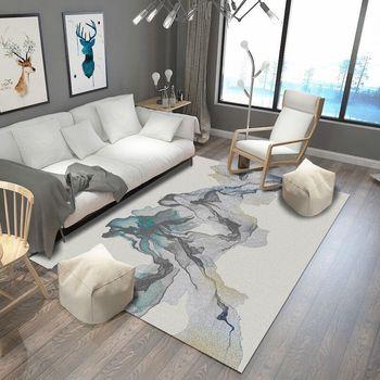 Alfombra de arte moderno abstracto para sala de estar, alfombra de estilo...