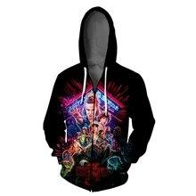 2019 New 3D Printed Hoodie Men/Women Stranger Things 3 Sweatshirts Tracksuit Hooded Hoodies Zipper Jacket Tops