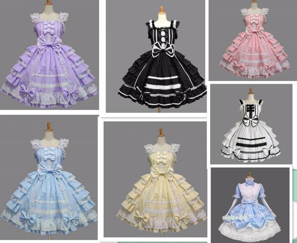 Livraison directe femmes robe d'été lolita robe en mousseline de soie dentelle médiévale gothique robe princesse cosplay halloween costumes pour fille