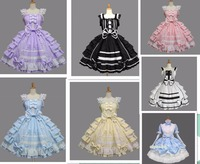 drop shipping women summer dress lolita dress chiffon lace medieval gothic dress princess cosplay halloween costumes for girl