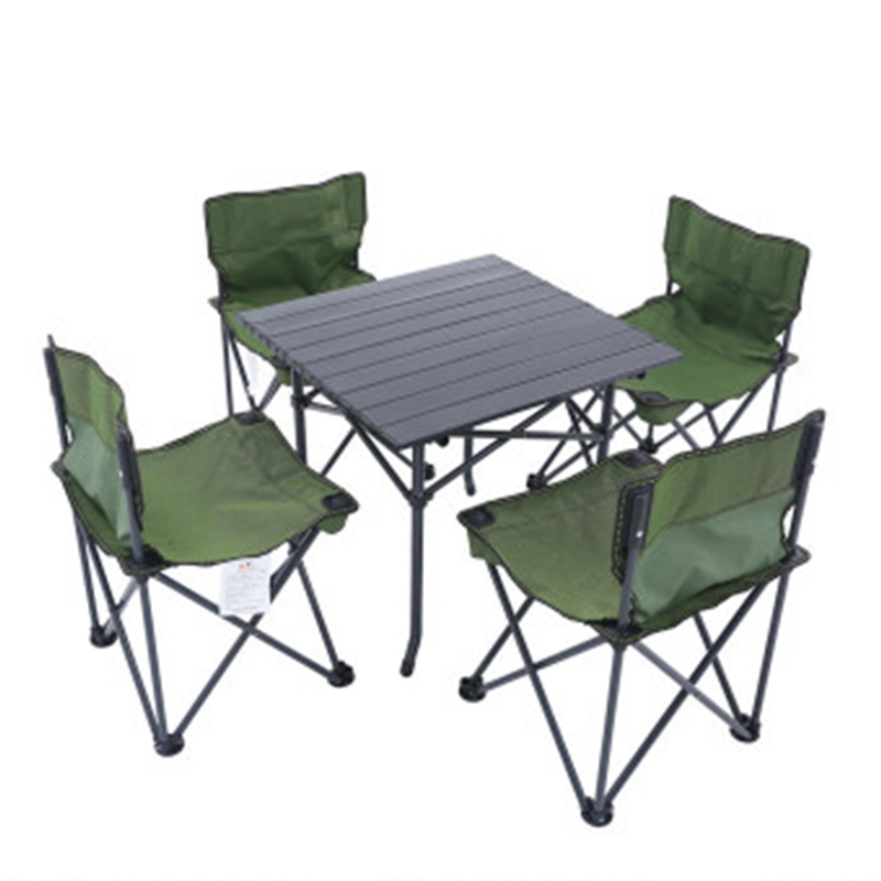 2018 Outdoor Folding Table Chair   Camping Aluminium Alloy Picnic Table Waterproof  Oxford Cloth Durable Folding Table Desk For